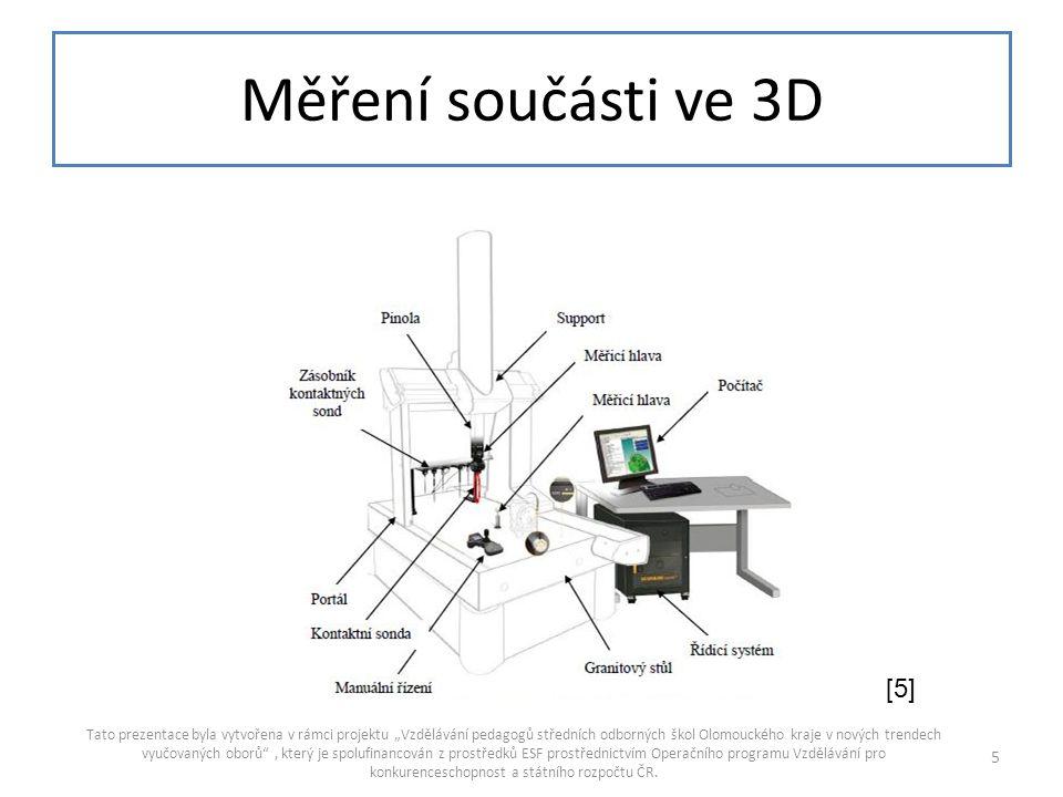 Měření součásti ve 3D [5]